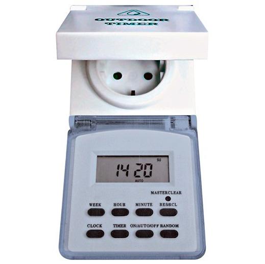 Розетка с таймером (недельная) электронная IP44 16А 3500W ТМ23