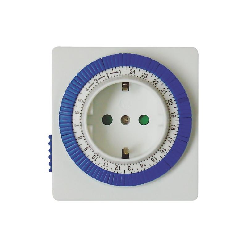 Розетка с таймером (суточная) механическая ТМ32 IP20 16А 3500W