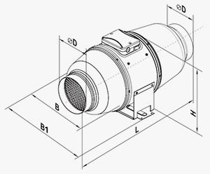 Вентилятор VENTS ТТ Сайлент-М 100, 250 м3